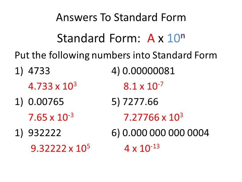 Gcse Maths Standard Form Gallery Free Form Design Examples
