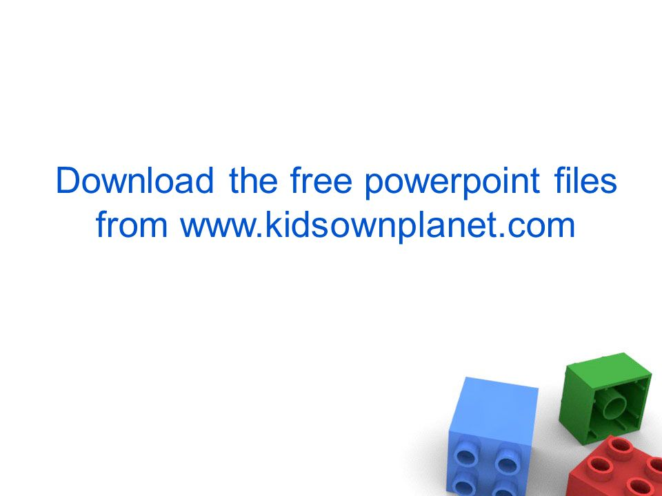 Download the free powerpoint files from