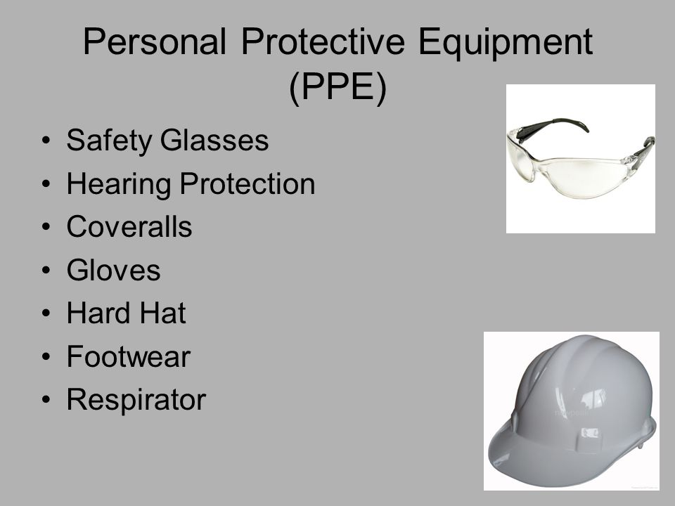 personal protective equipment in workplaces Purpose the company provides all employees with required ppe to suit the task and known hazards this chapter covers the requirements for personal protective equipment with the exception of ppe used for hearing conservation and respiratory protection or ppe required for hazardous material response to spills or releases, which are covered under.
