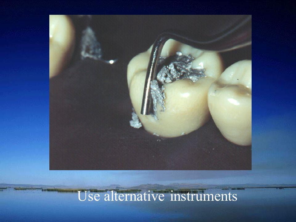 Use alternative instruments