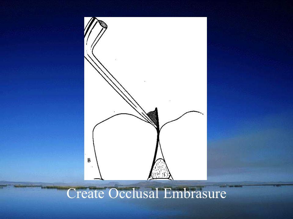 Create Occlusal Embrasure