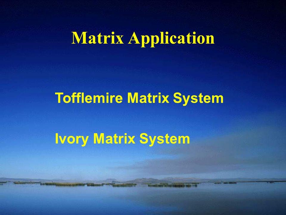 Matrix Application Tofflemire Matrix System Ivory Matrix System
