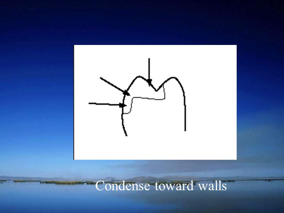 Condense toward walls