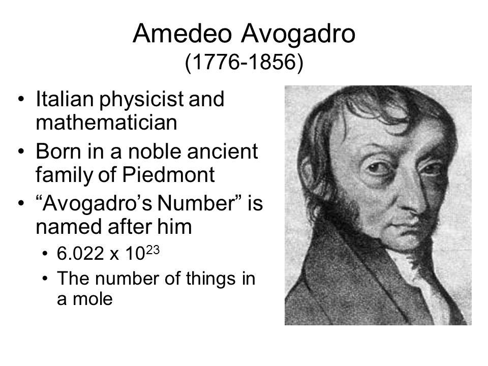 Amedeo Avogadro Number