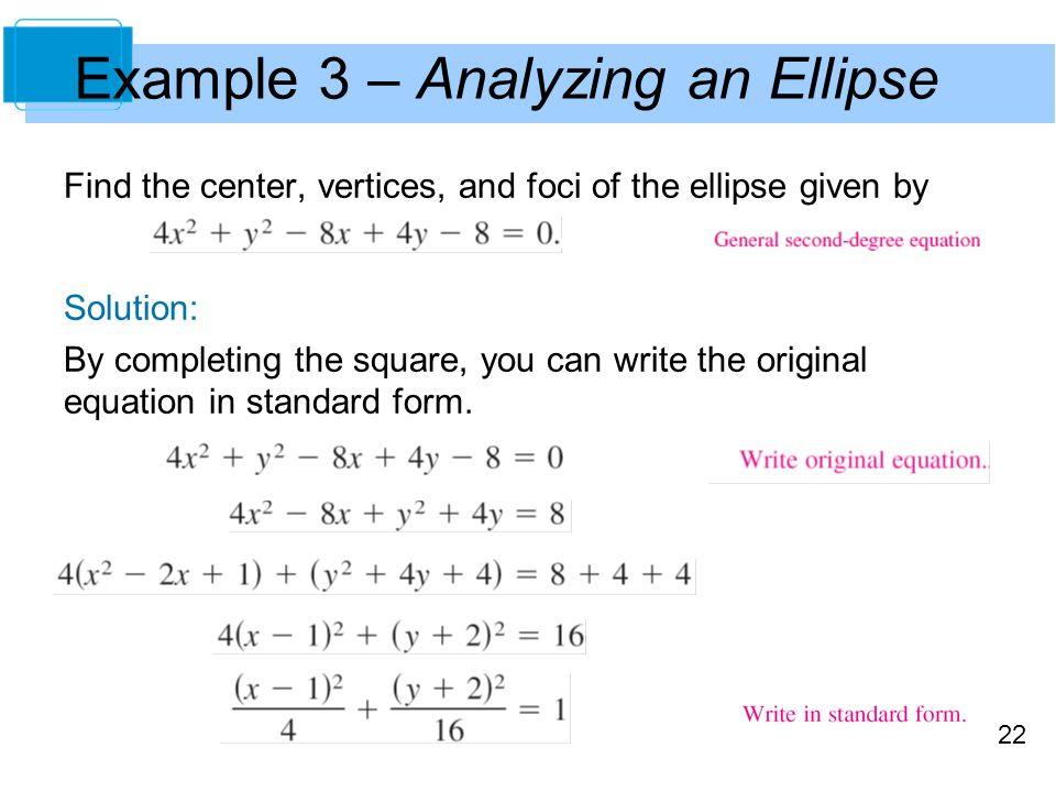 General Equation Of Ellipse - Jennarocca
