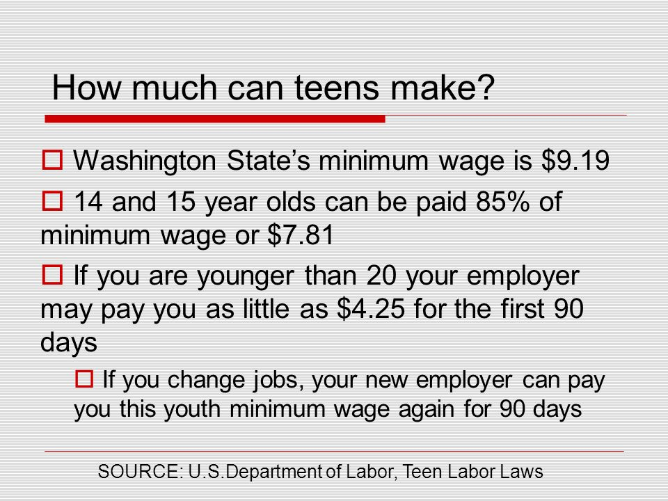 good first jobs for 15 year olds