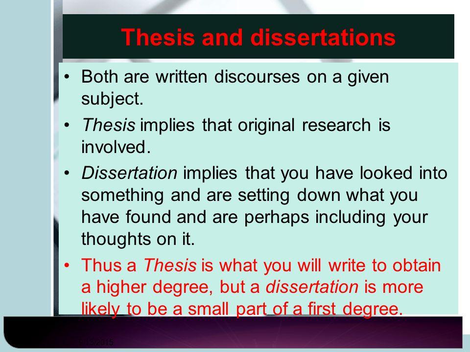 Dissertation Candidates