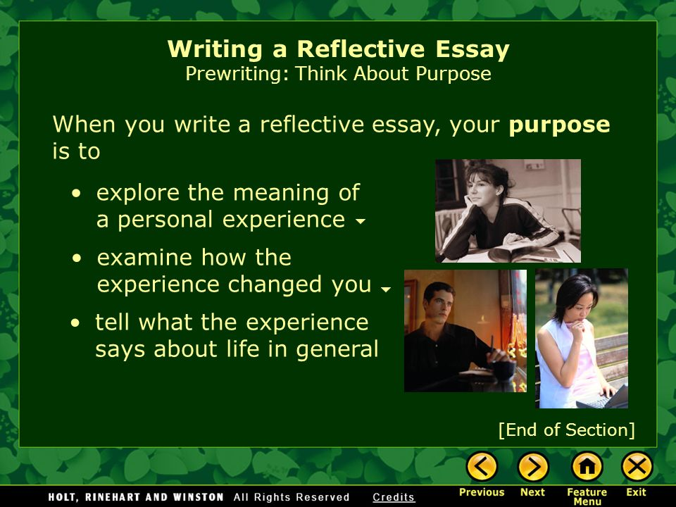 writing workshop writing a reflective essay assignment prewriting  3 when