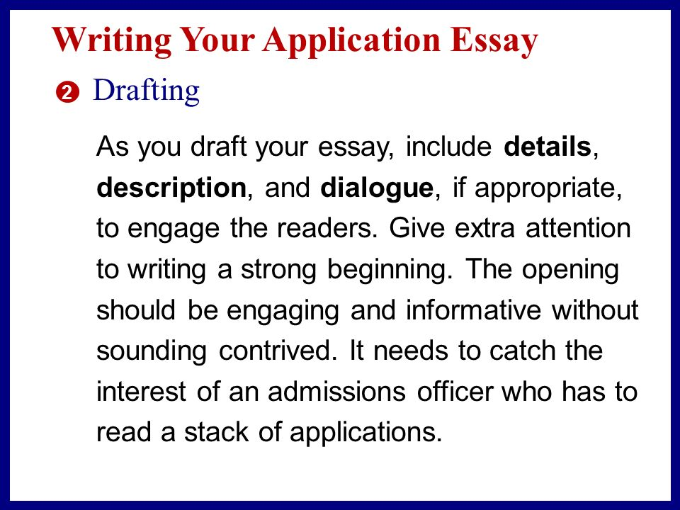 Typical Reflective Essay Mistakes Planning Your Application Essay    Think about your experience
