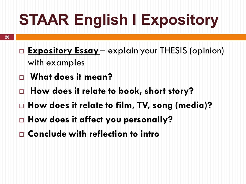 write explanatory essay Thus, writing an explanatory essay requires an ability to examine a topic and to present it to the reader as correctly and impartially as possible.