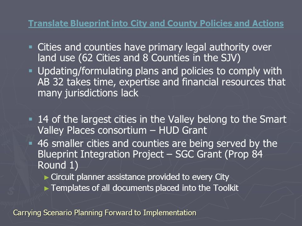 Carrying scenario planning forward to implementation plans are only 16 translate blueprint malvernweather Images