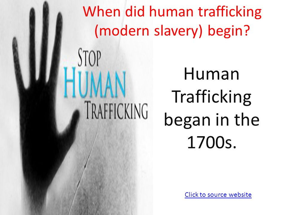 Where did sex trafficking start