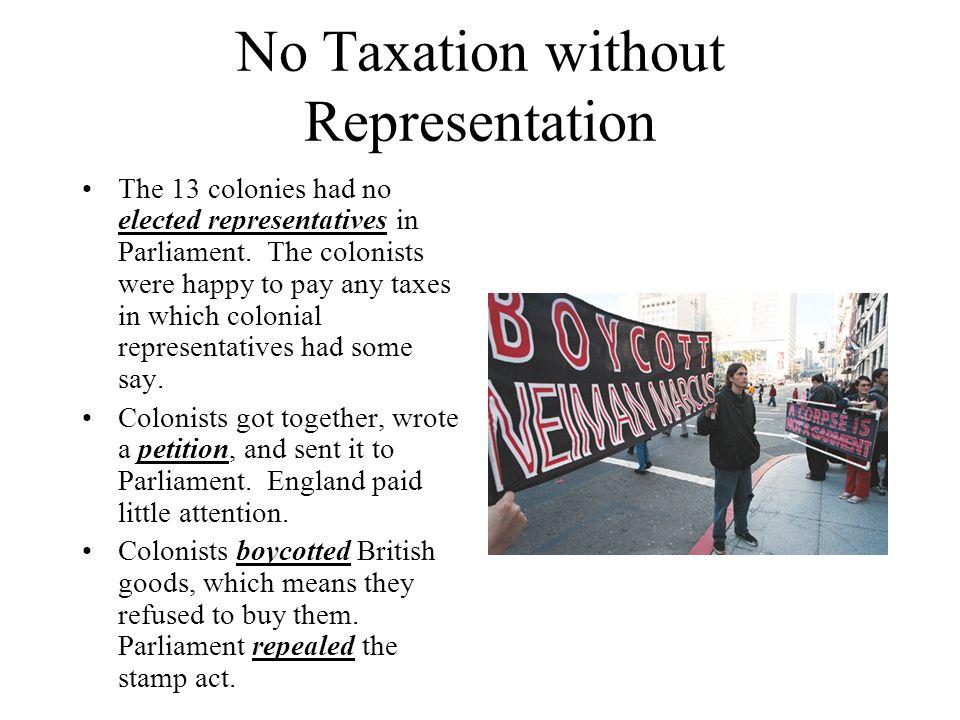 taxation w o representation