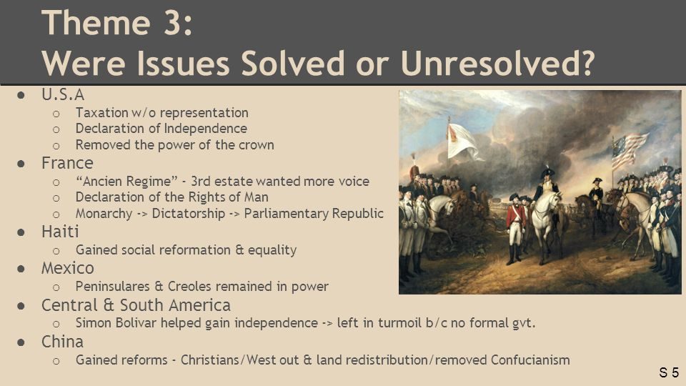 S 5 Theme 3: Were Issues Solved or Unresolved.