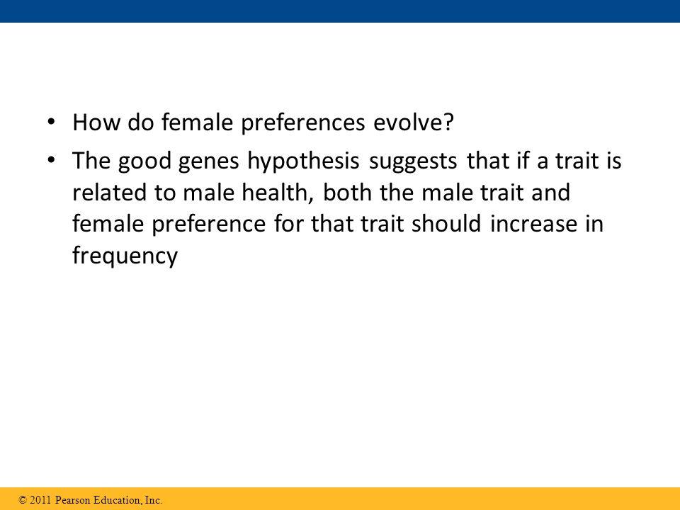 How do female preferences evolve.