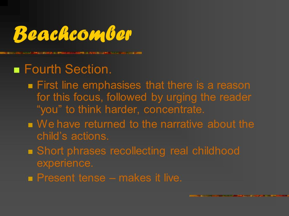 Beachcomber Fourth Section.