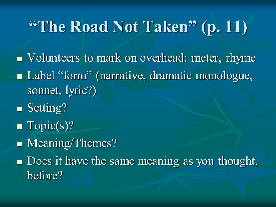 essay about the road