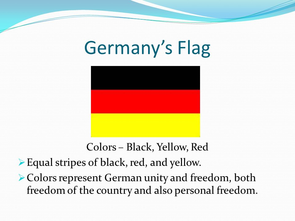 What do the colors of Germany's flag stand for?