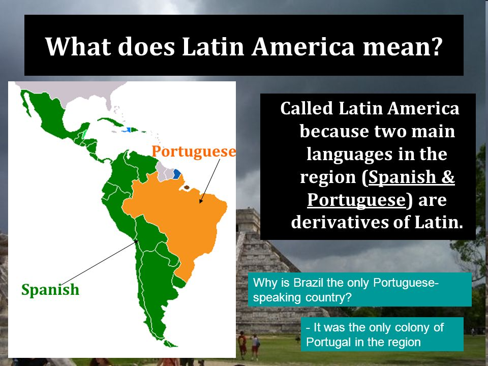 What does Latin America mean.