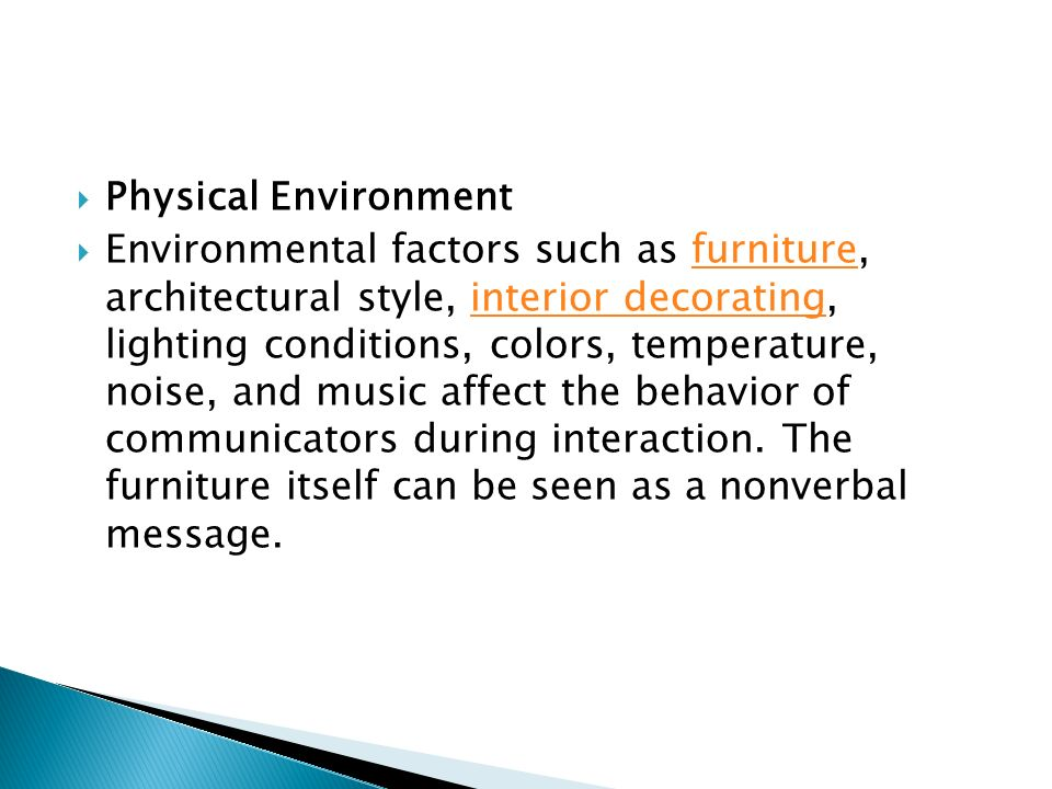 the effect of environmental factors such
