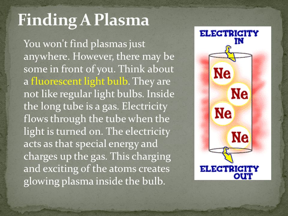 You won t find plasmas just anywhere. However, there may be some in front of you.