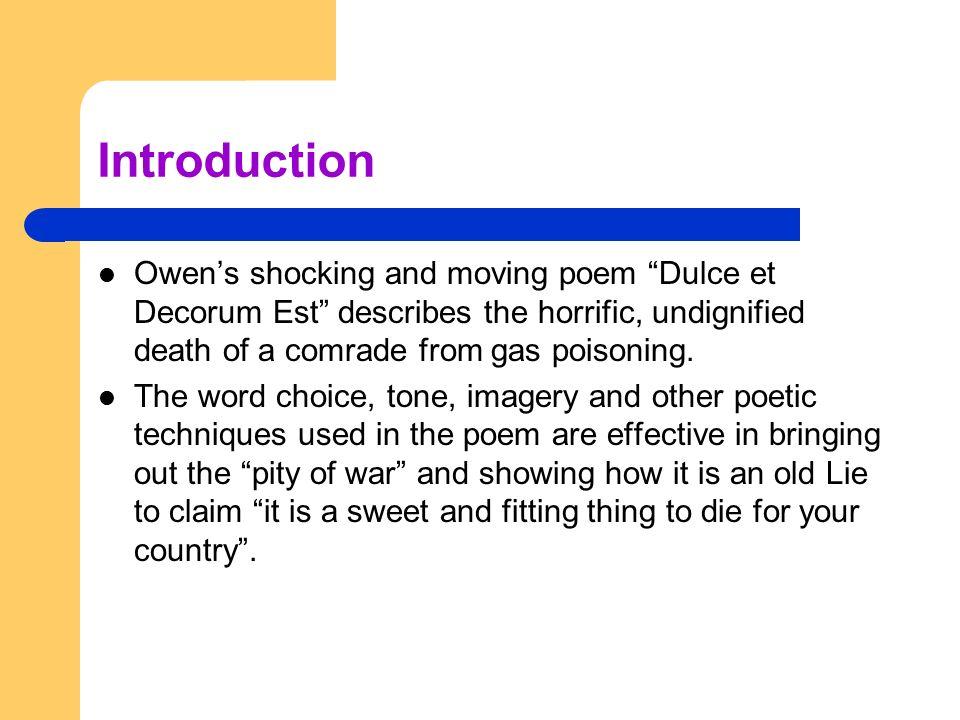 overview of dulce et decorum est essay term paper academic service overview of dulce et decorum est essay