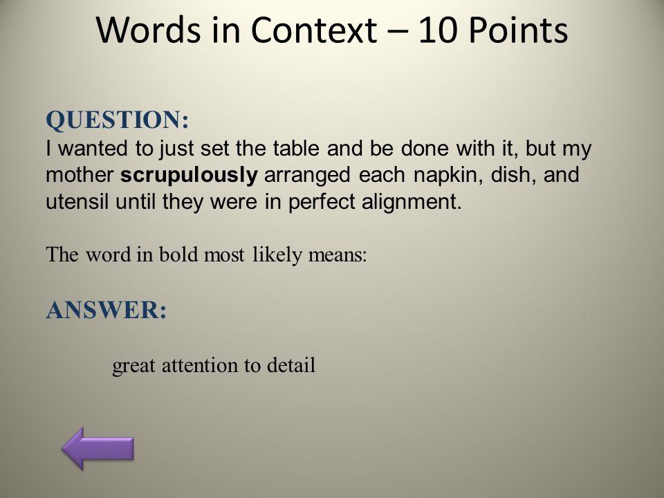 Grammar question for ten points!?