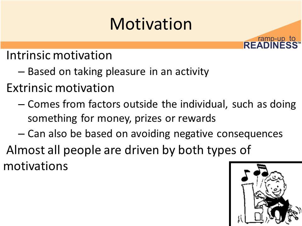 extrinsic motivation motivates