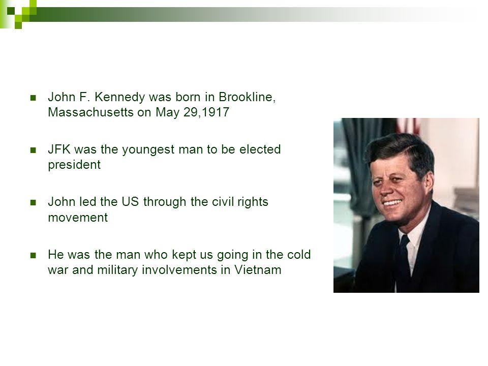 a biography of john fitzgerald kennedy born in brookline massachusetts
