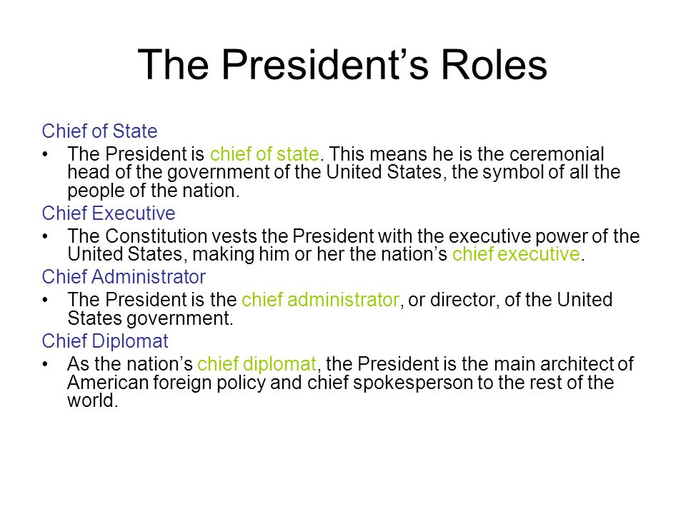 Today Topic: The Executive Branch Activities: 1.PowerPoint/Guided ...