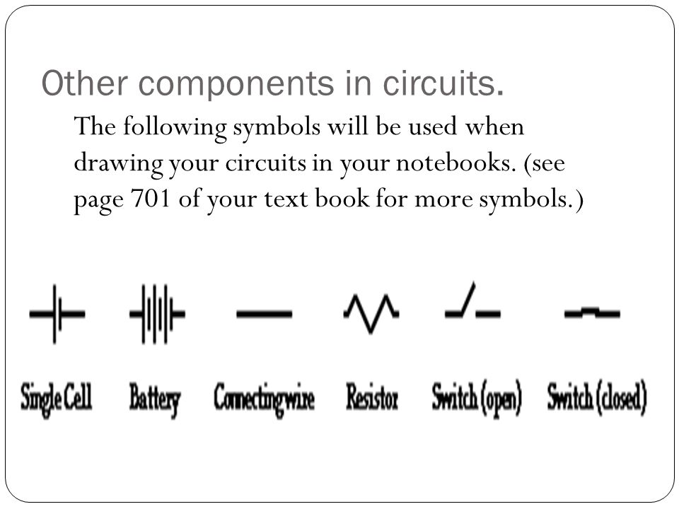 Other components in circuits.