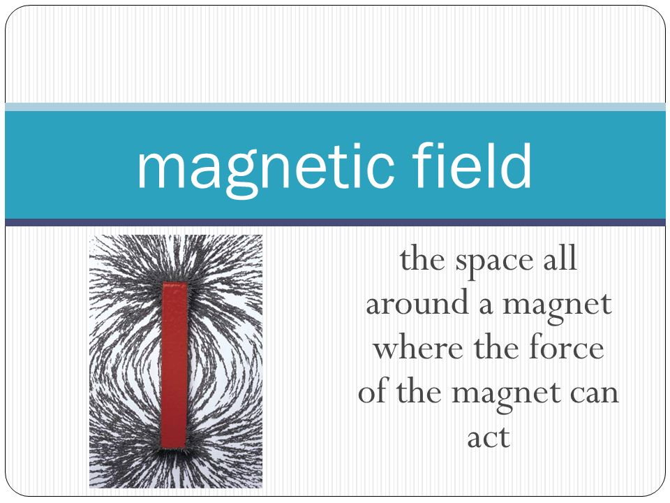 the space all around a magnet where the force of the magnet can act magnetic field