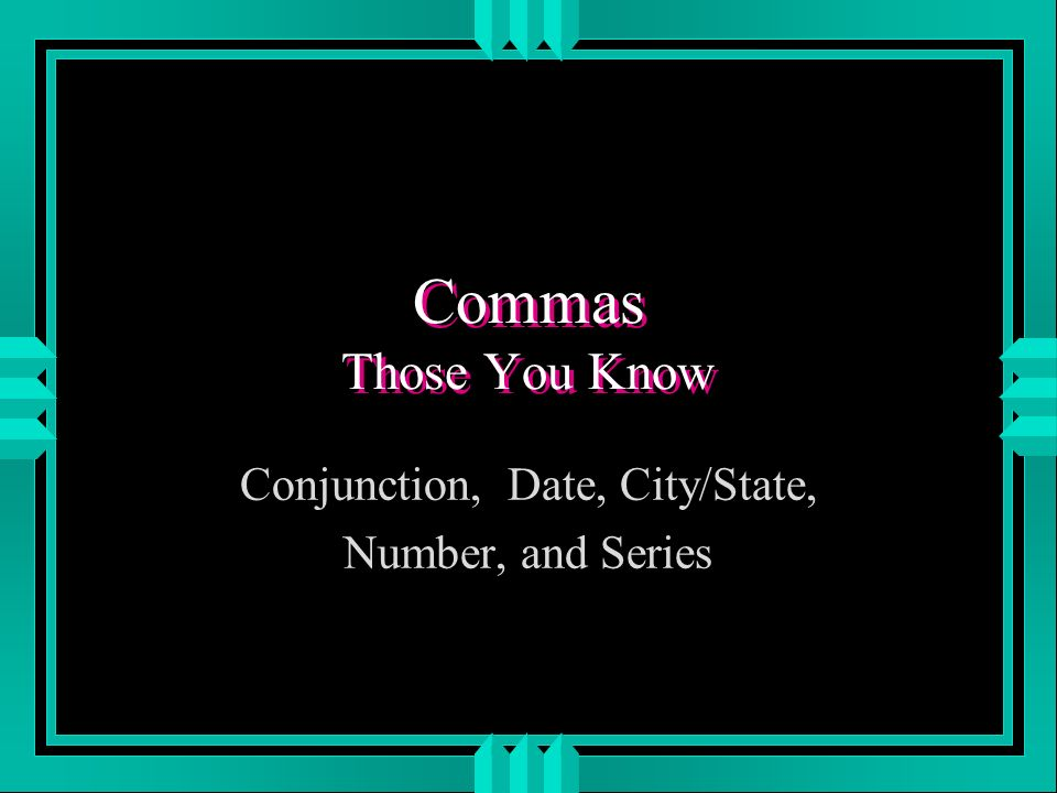 Punctuation Review: Commas Angela Gulick CAS Writing Specialist ...