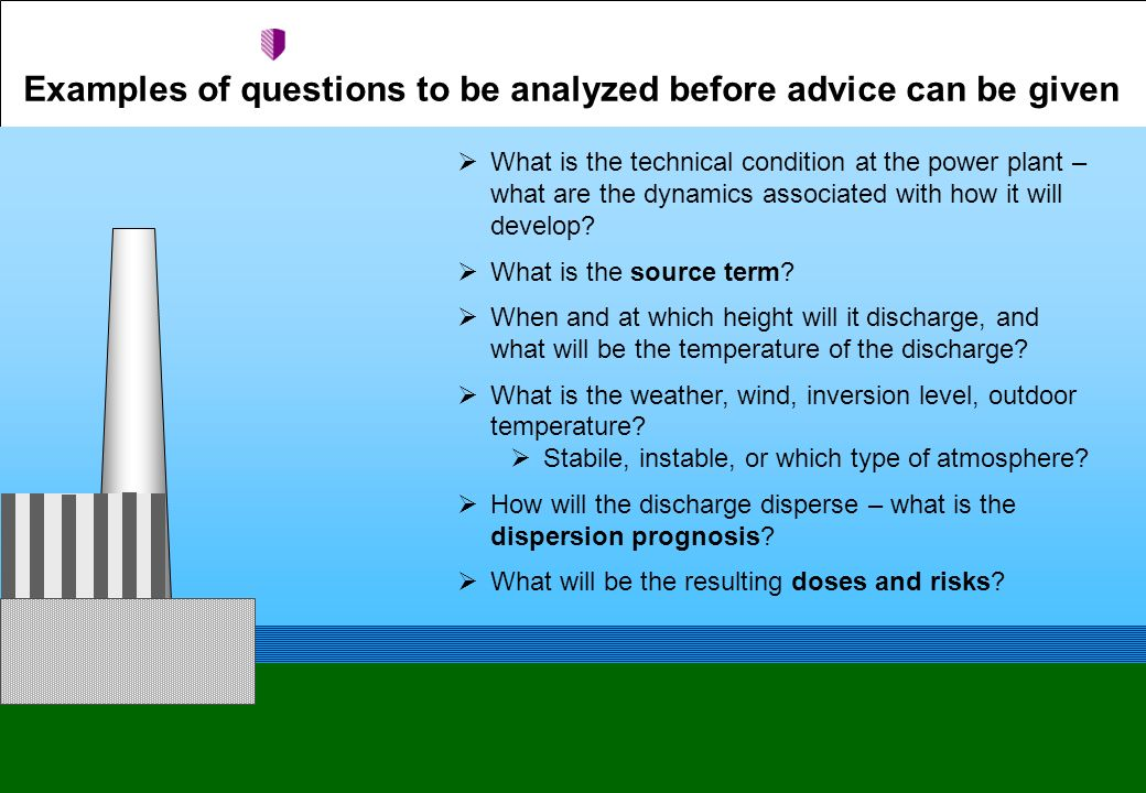 Examples of questions to be analyzed before advice can be given  What is the technical condition at the power plant – what are the dynamics associated with how it will develop.