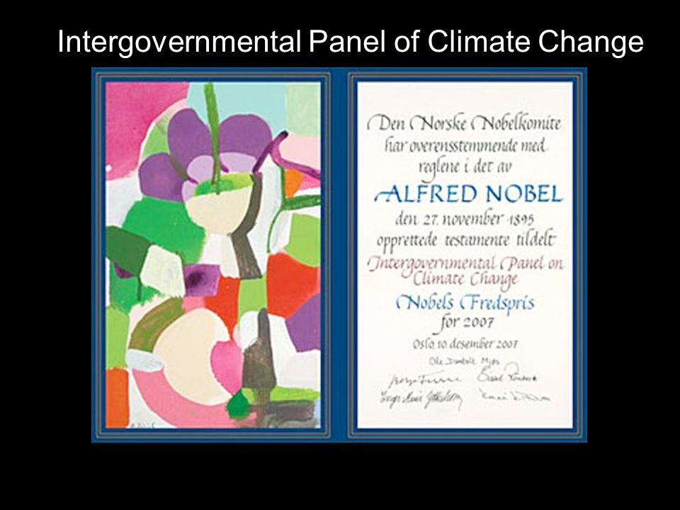 Intergovernmental Panel of Climate Change