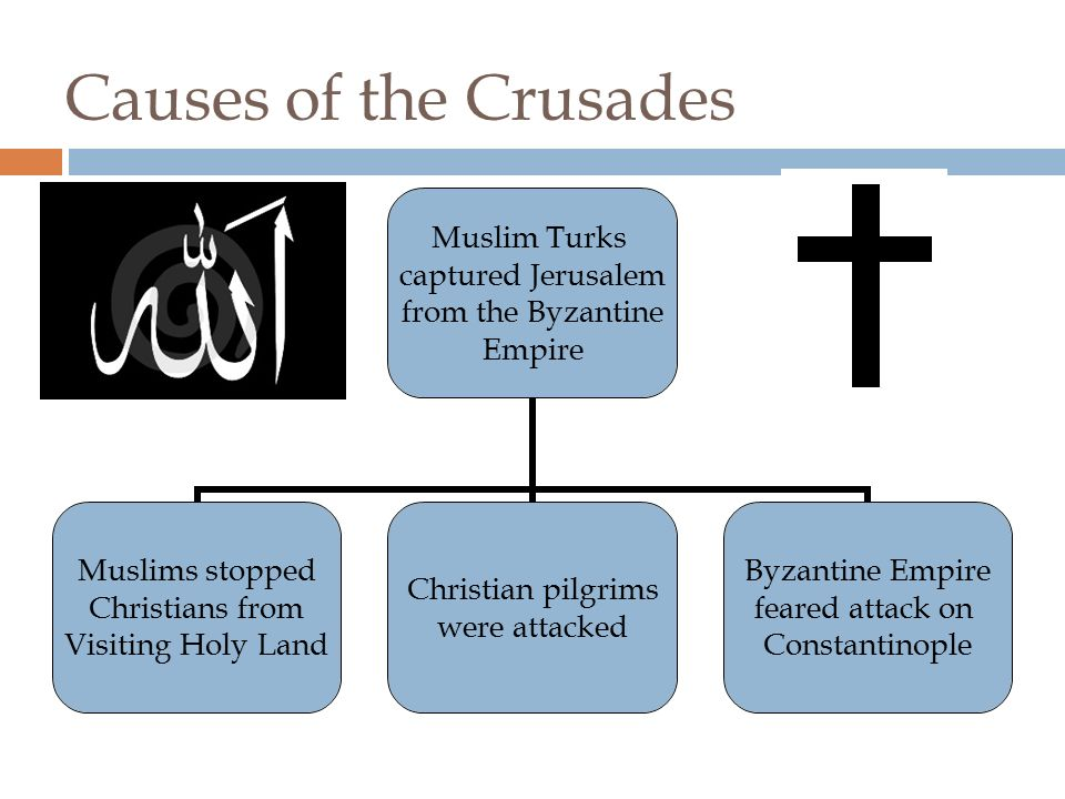 Crusades  A long series or Wars between Christians and Muslims  They fought over control of Jerusalem which was called the Holy Land because it was the region where Jesus had lived, preached and died