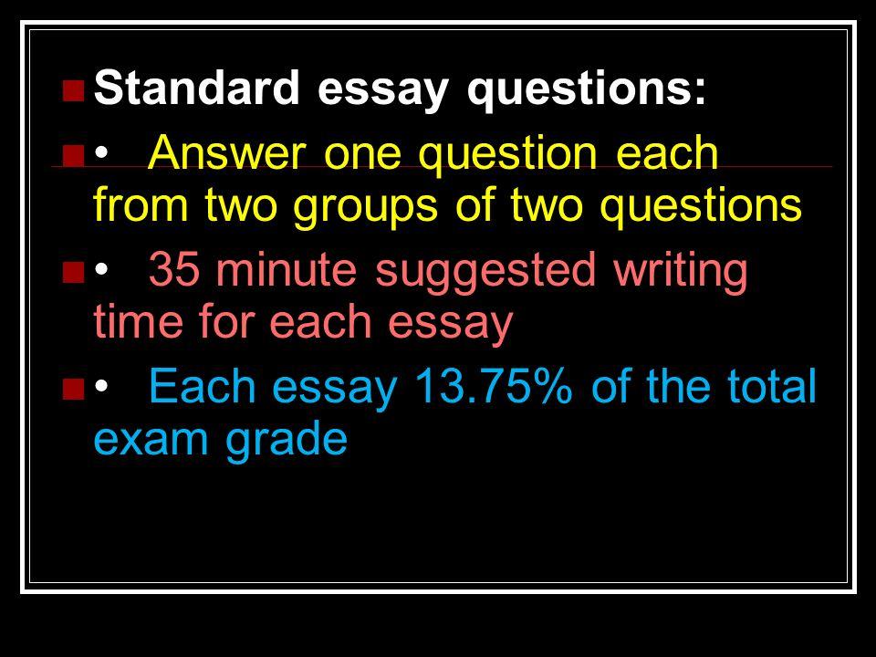 std essay