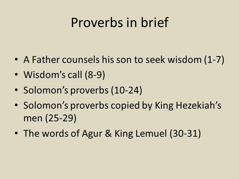 proverbs essays Proverbs Essay