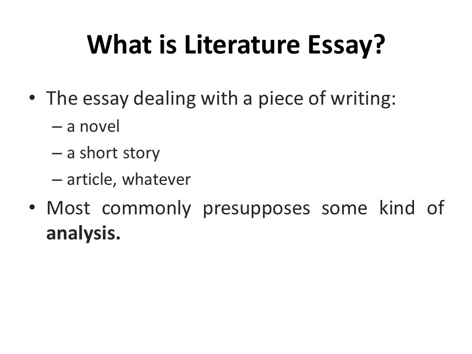 What Is A Structured Essay Format