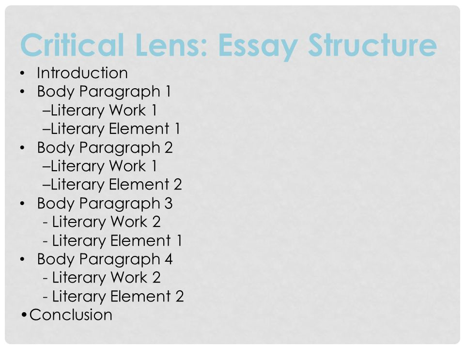 critical lens essay thesis statement