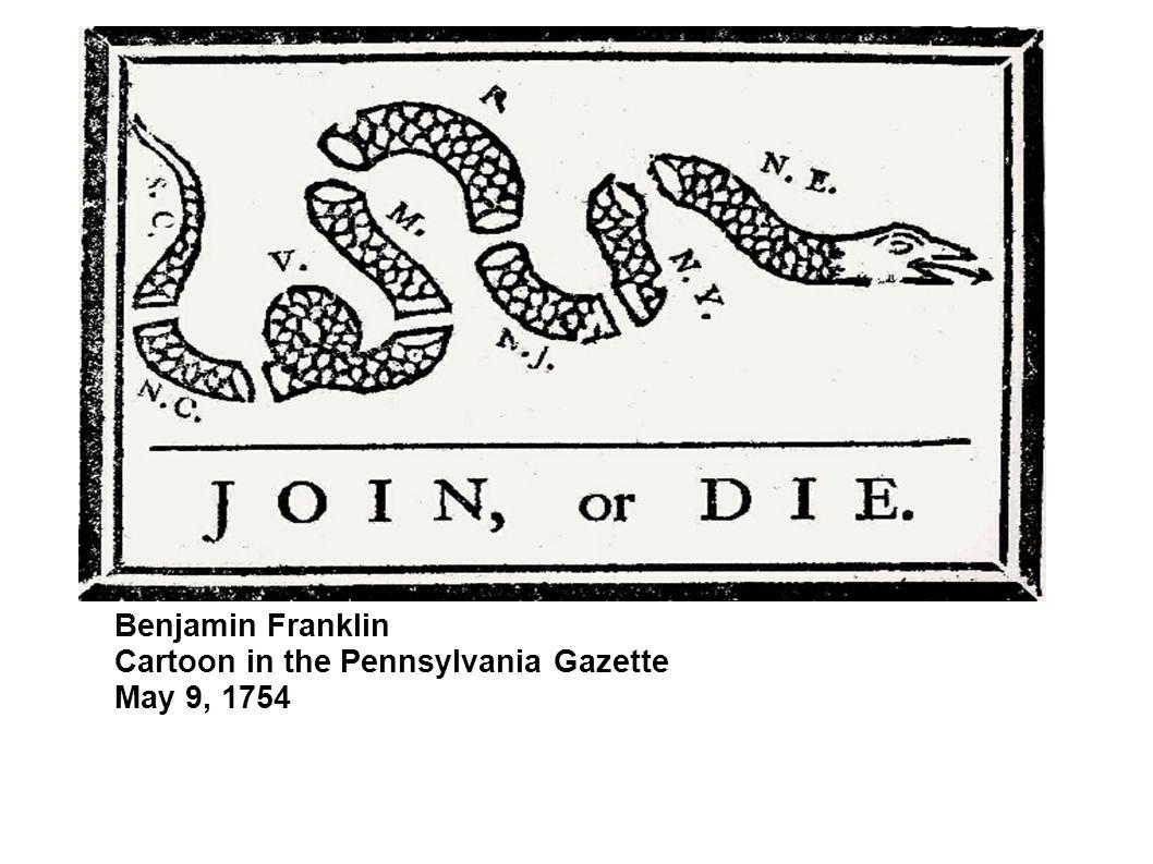 Benjamin Franklin Cartoon in the Pennsylvania Gazette May 9, 1754