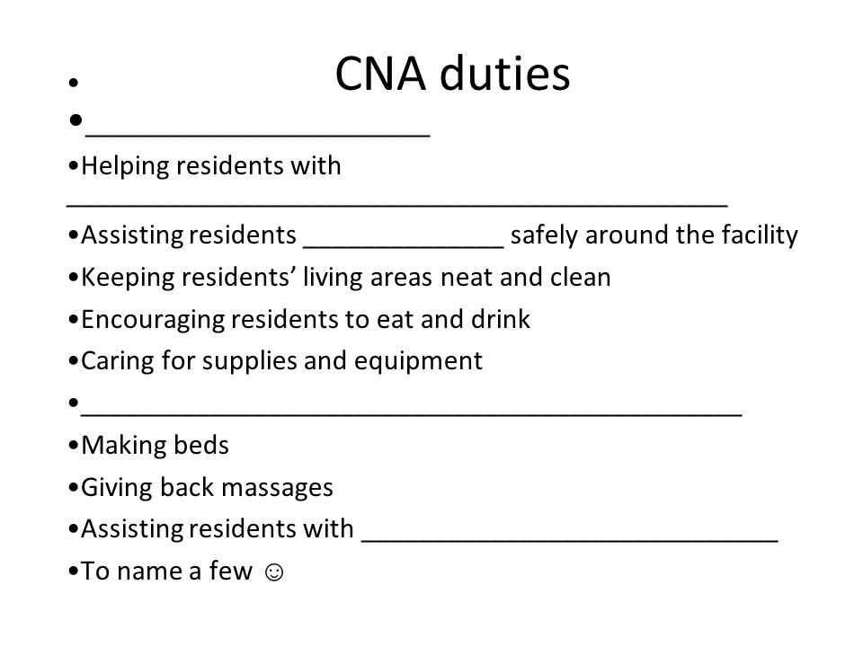 Long Term Care And The Nursing Assistants Role Settings Where The