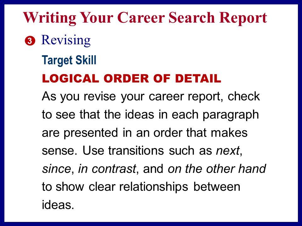 career planning report essay