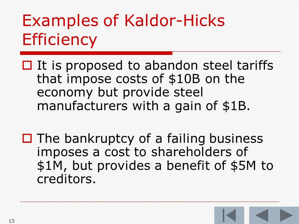 15  It is proposed to abandon steel tariffs that impose costs of $10B on the economy but provide steel manufacturers with a gain of $1B.