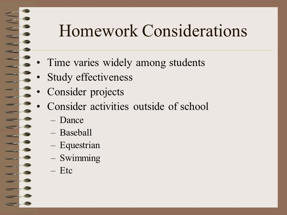 Research on homework effectiveness