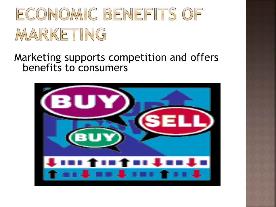 Marketing supports competition and offers benefits to consumers