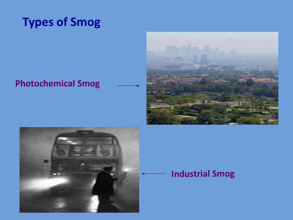 Types of Smog Photochemical Smog Industrial Smog
