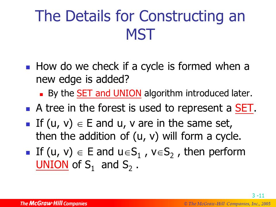 © The McGraw-Hill Companies, Inc., An example of Kruskal ' s algorithm