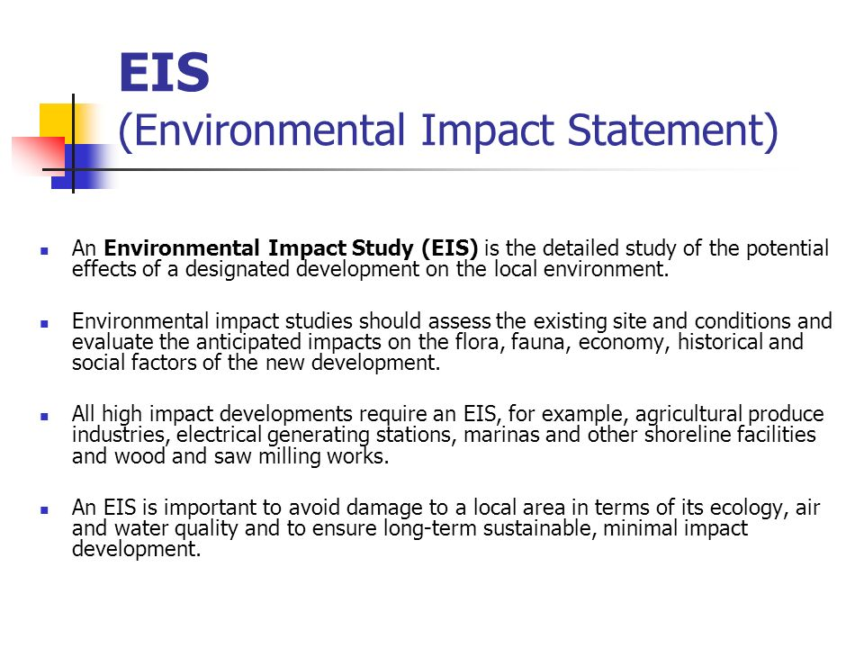 Cool Environmental Impact Statement Template Contemporary - Example ...