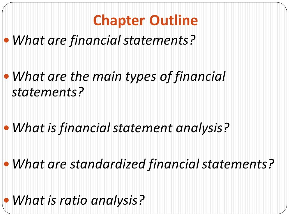 Financial Statements And Ratio Analysis Chapter Ppt Download